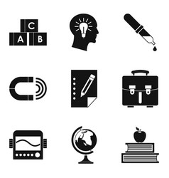 Scholarly icons set simple style vector