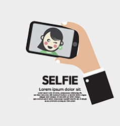 Selfie By Phone Lifestyle With Technology vector image