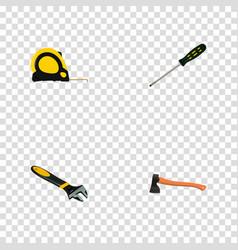 Set of tools realistic symbols with screwdriver vector