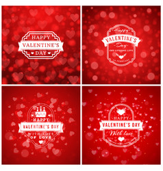 Set of typographic backgrounds of the holiday vector