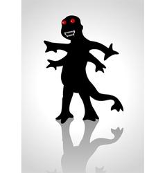 Silhouette a strange creature vector