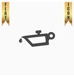 simple engine oil icon vector image