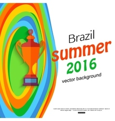 Summer travel brazil background for sport banner vector