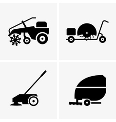 Sweeper machines vector