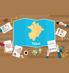 Taipei capital taiwan city region economy growth vector