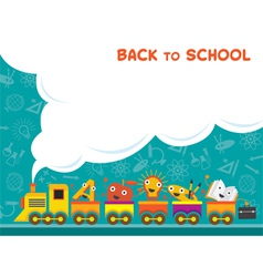 Train with Education Characters Back to School vector