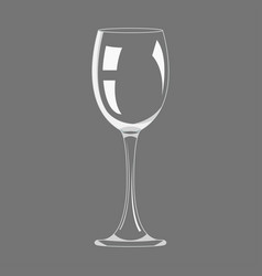 transparency empty wine glass design icon vector image