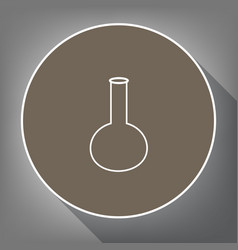tube laboratory glass sign white icon on vector image