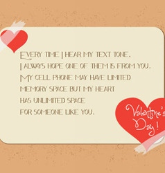 valentine greeting poster card vector image