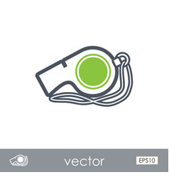 Whistle outline icon summer vacation vector