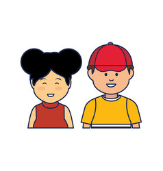 Young people ethnicity characters vector