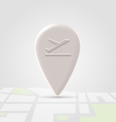 Airborn icon over map vector image vector image
