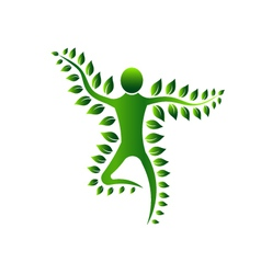Green Plant Person Abstract concept of Biology vector image