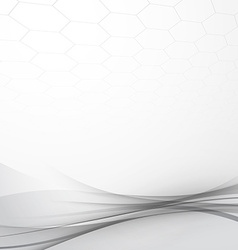 Grey modern abstract tech background layout vector image vector image