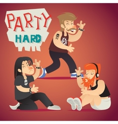 Rock Funs Party Hard Alternative Music Geek vector image