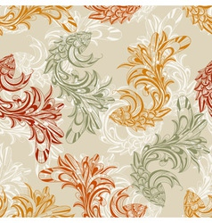 seamless pattern with concept fishes vector image vector image