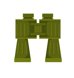 the green colored binocular vector image vector image