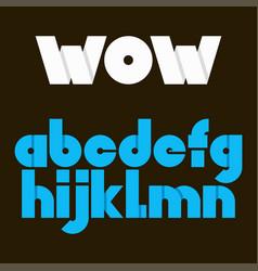 alphabet letters for logo set of alphabet vector image vector image