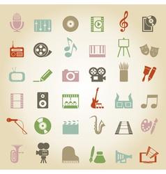 Art Music Media icon vector image vector image