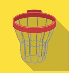 basketball hoopbasketball single icon in flat vector image