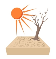 Lonely dead tree vector image