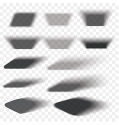 box shadow set transparent with soft edges vector image