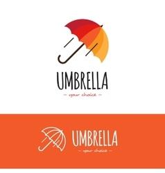 colorful orange and red umbrella logo Cute vector image vector image
