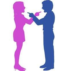 Couple yell point fight in argument vector image