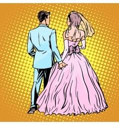 Groom bride wedding love vector