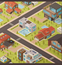isometric house background vector image