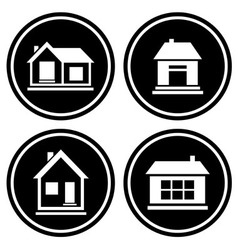 set round icons with house vector image