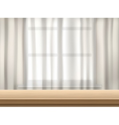 table and curtain background vector image
