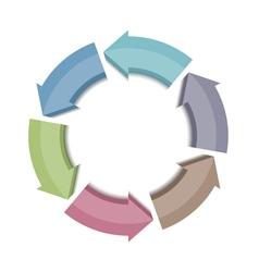 Circle Arrows Icon vector image