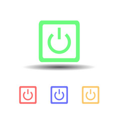 icon four computer power button isolated on white vector image vector image