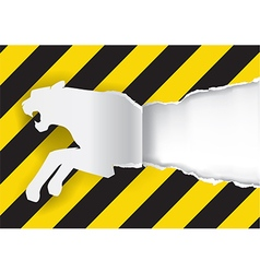 Paper Tiger Construction Sign Background vector image