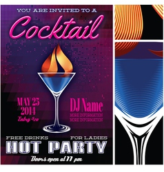 poster template for the cocktail party vector image