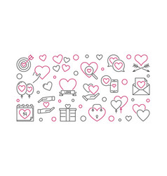 14 february valentines day outline vector