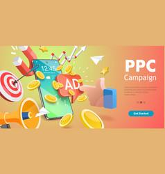 3d conceptual mobile ppc vector
