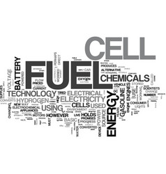 A basic overview of fuel cell technology text vector