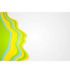 Abstract colorful waves background vector image