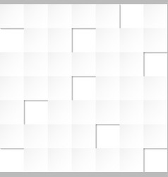 Abstract gray gradient square on white background vector