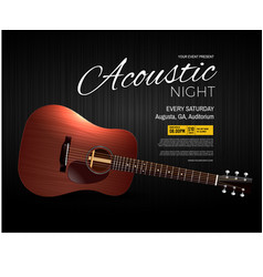acoustic night live performance event poster vector image
