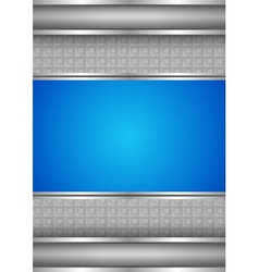 Background template metallic texture blue blank vector