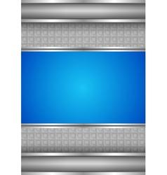background template metallic texture blue blank vector image