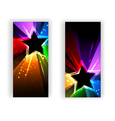 Banner with Rainbow Rays vector
