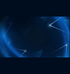 Blue light network geometry background vector