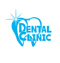 blue sign of dental clinic vector image