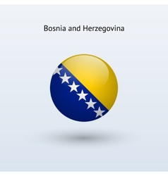 Bosnia and Herzegovina round flag vector
