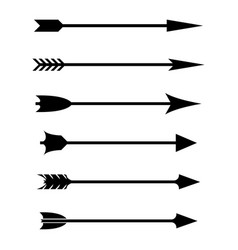 bow arrows black flat signs vector image