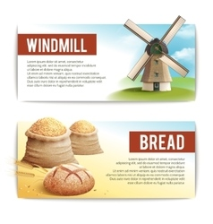 Bread Banner Set vector image